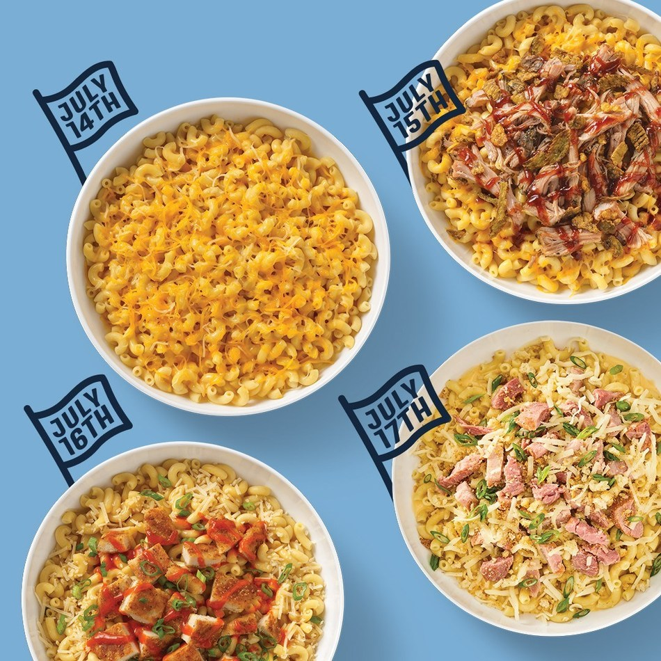Noodles Rewards members will receive an offer for a free small bowl of gourmet Mac & Cheese with entree purchase from July 14 through July 17.
