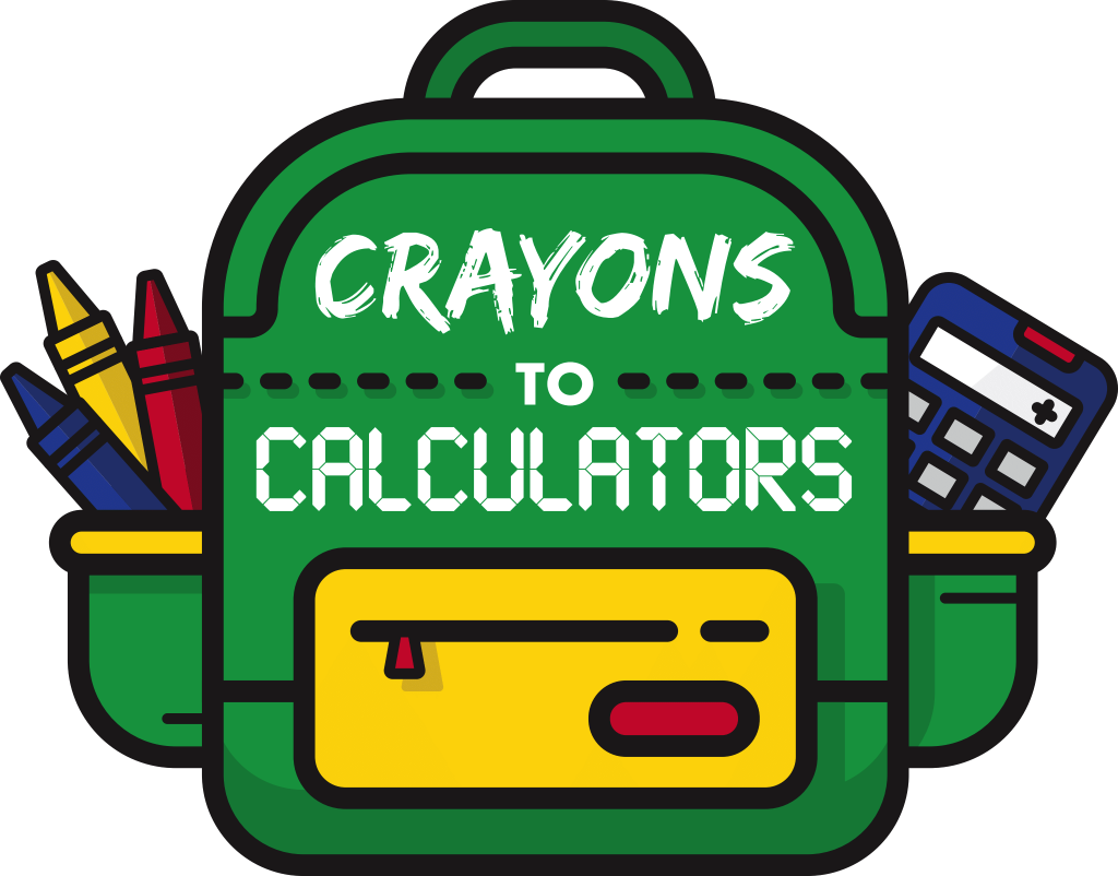 Crayons to Calculators logo - supporting the needed supply drive in St Vrain Valley and Boulder County Schools