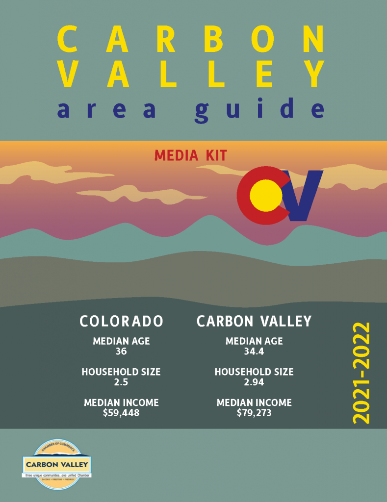 cover of the Carbon Valley Area Guide Media Kit 2021-2022